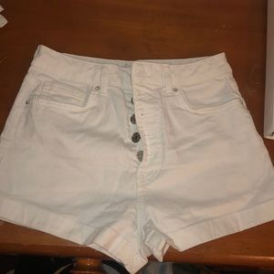 White Forever 21 High Waisted Denim Shorts